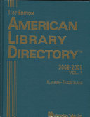 American Library Directory 2008-200...