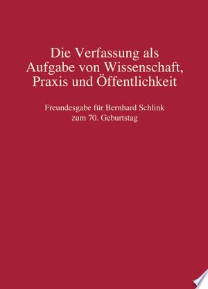 Freundesgabe für Bernhard Schlink