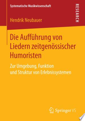 Die Aufführung von Liedern zeitgenössischer Humoristen