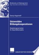 Universitäre Bildungskooperationen